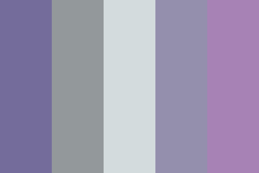 Cool Purples And Grays Color Palette