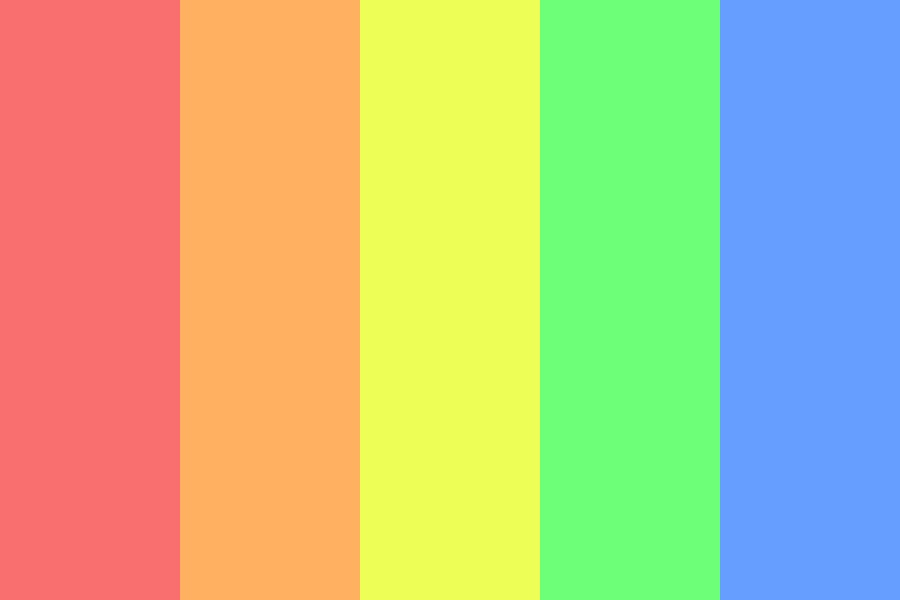 Cool Rainbow Color Palette
