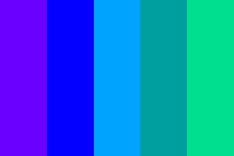 Cool Shaded Colors Color Palette