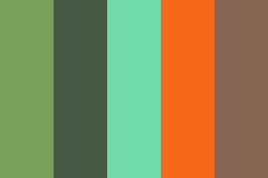 Copper Forest Color Palette