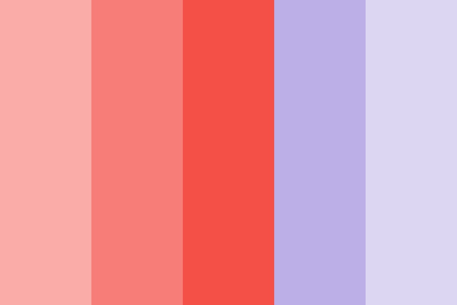 Coral And Purple Color Palette