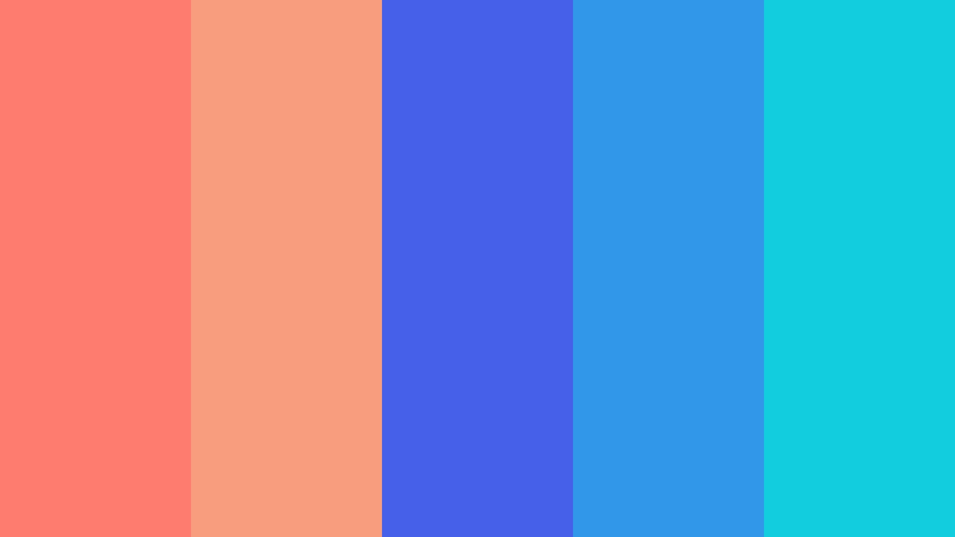 Coral Blue Color Palette
