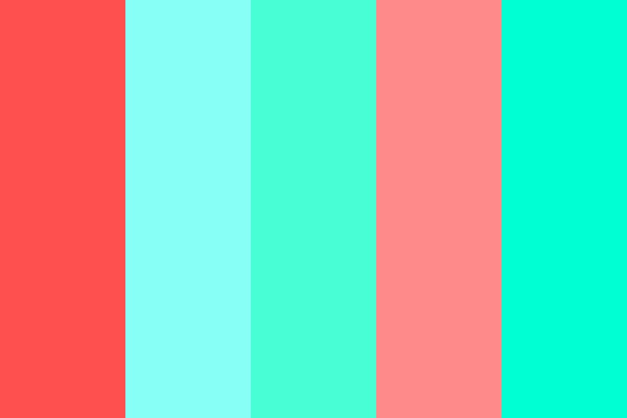 Coral Waves Color Palette