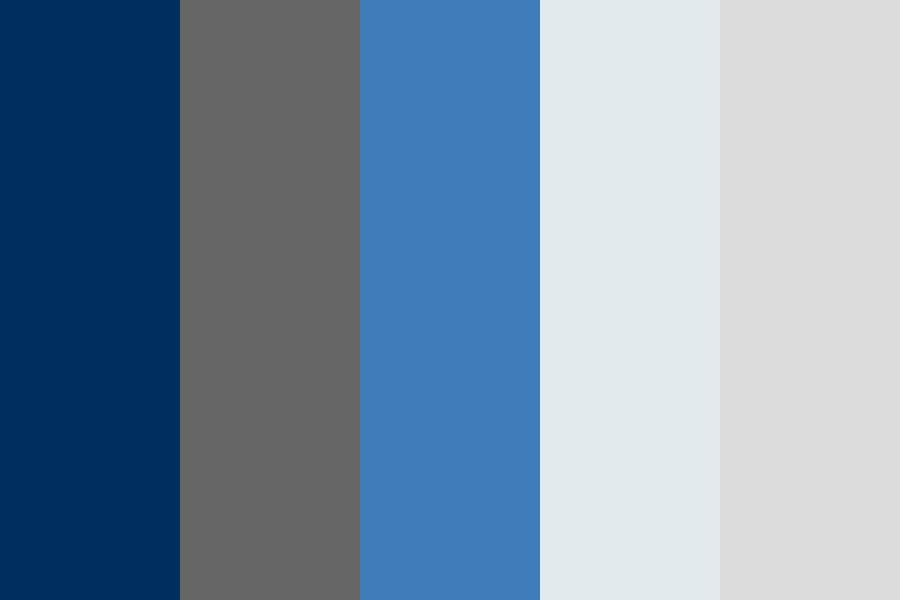 Corporate Blues And Grays Color Palette