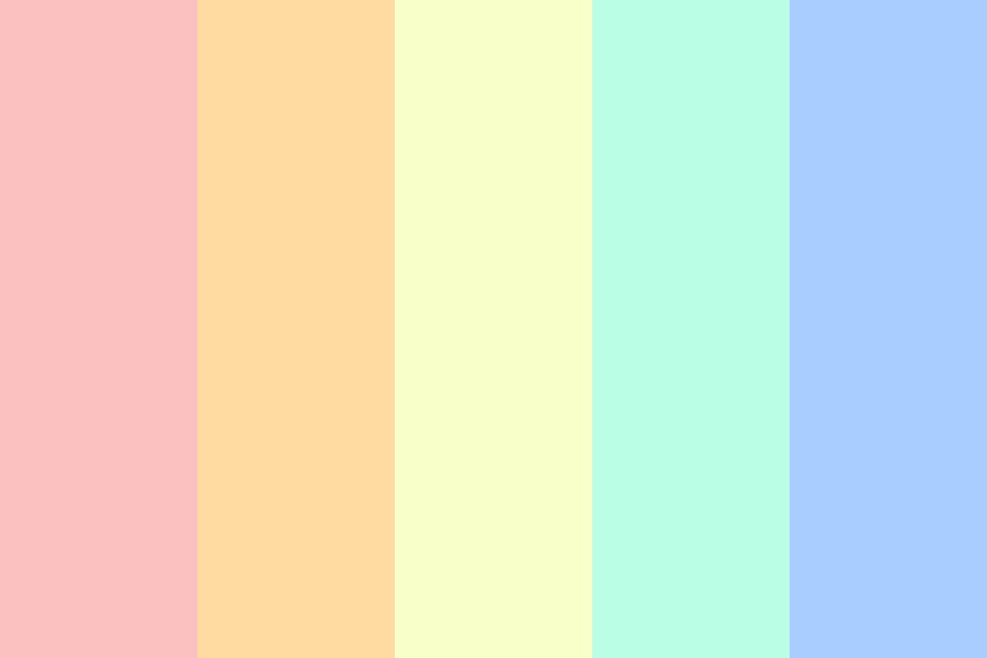 Cotton Candy Rainbow Color Palette