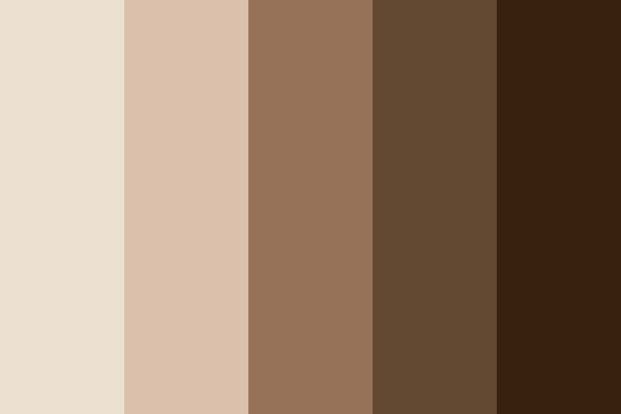 Cream Coffee Color Palette