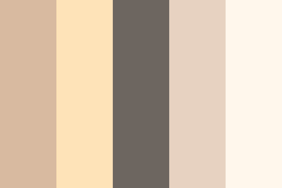 Cream N Brown Color Palette