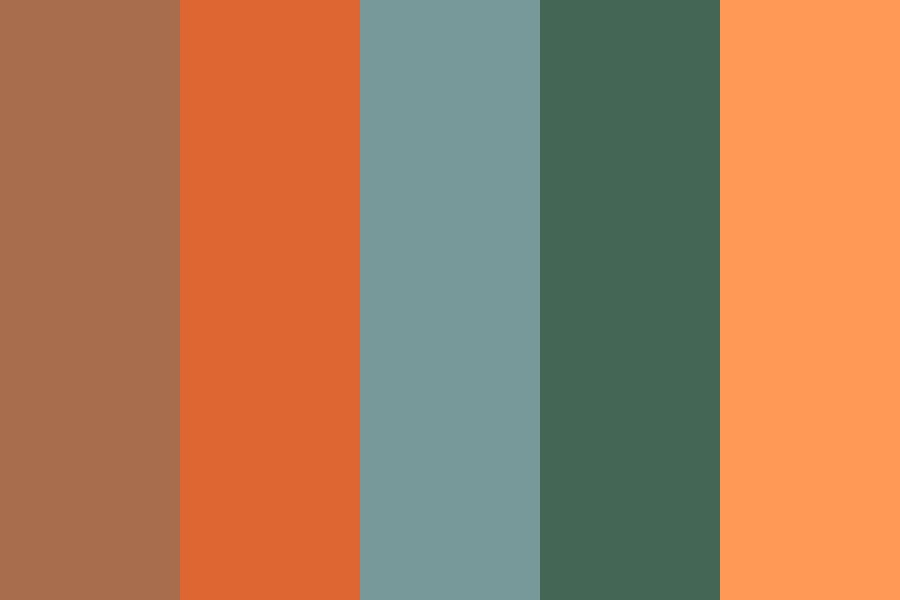 Creamsicle On The Beach Color Palette