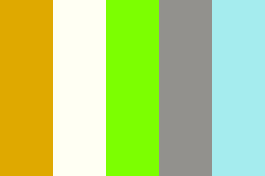 Crystal Zombie Space Dog Color Palette