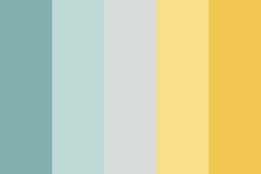 Cute Green And Gold Color Palette