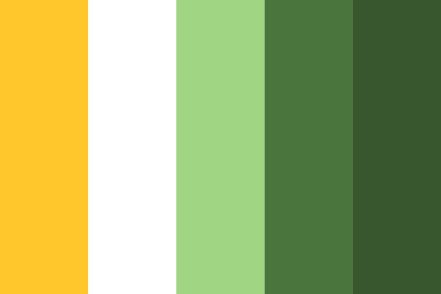 Daisies On Green Color Palette