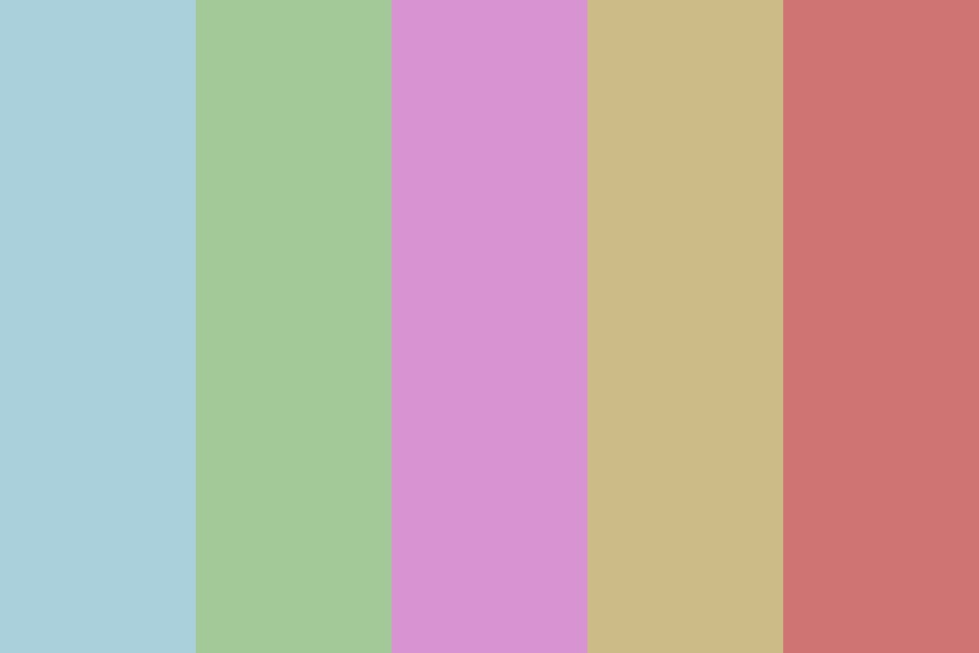 Damp Pastel Color Palette