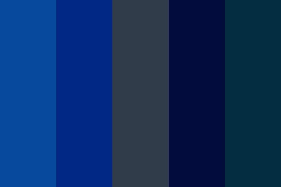 Dark Blues   Links Color Palette