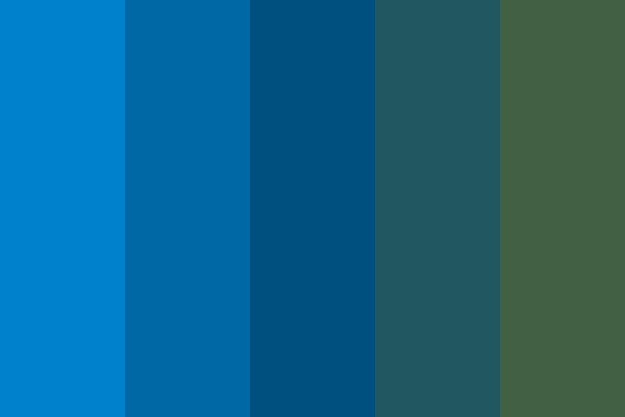 Dark Blues And Greens Color Palette