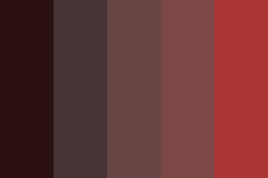 Dark Chocolate Cover Strawberries Color Palette