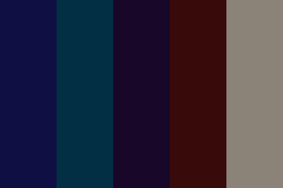 Dark Cools Color Palette