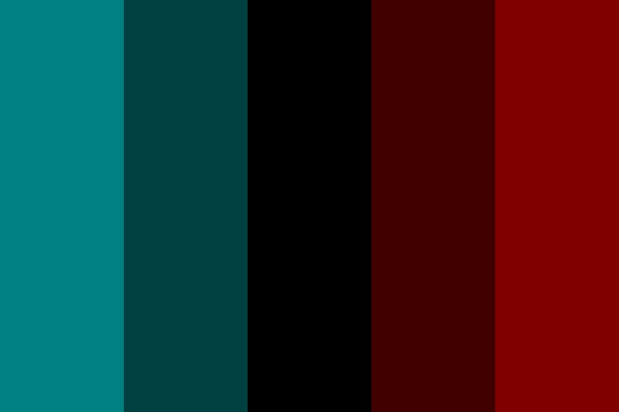 Dark Cyan And Red Color Palette