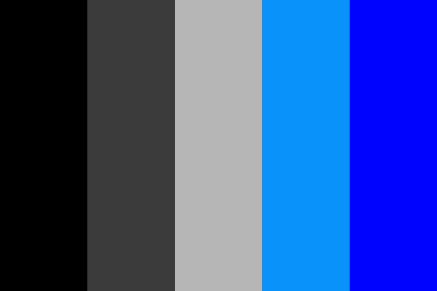 Dark Electronic Blue Color Palette