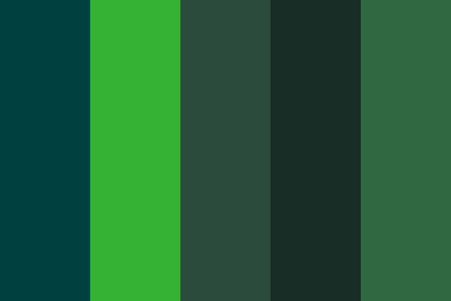 Dark Greeen Color Palette