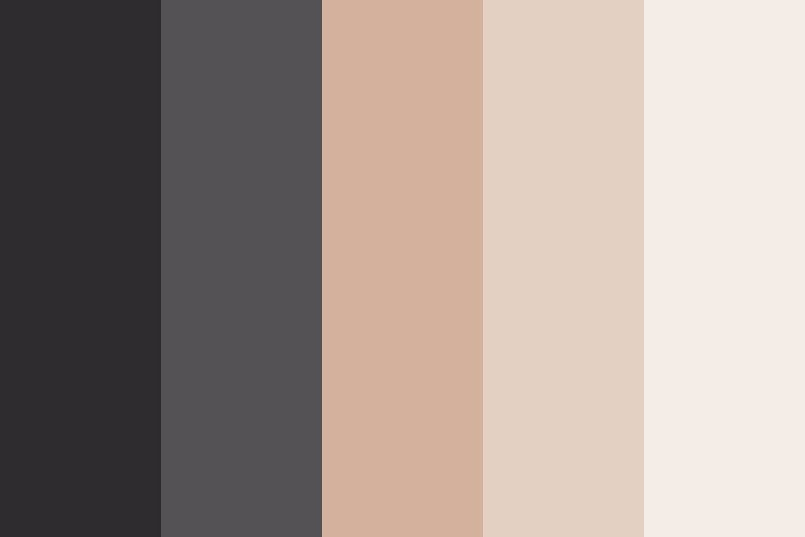 Dark Grey Down To Pale Color Palette
