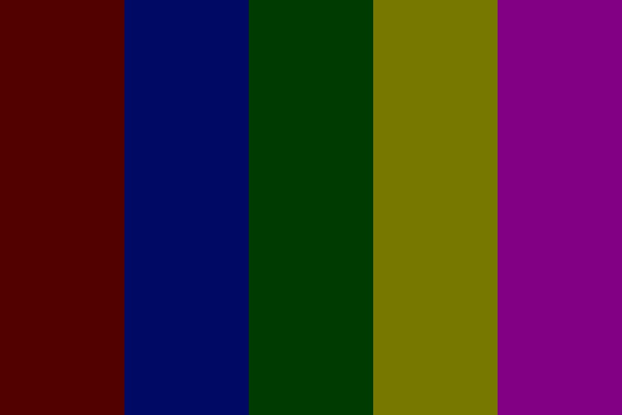 Dark Rainbow Lights Color Palette