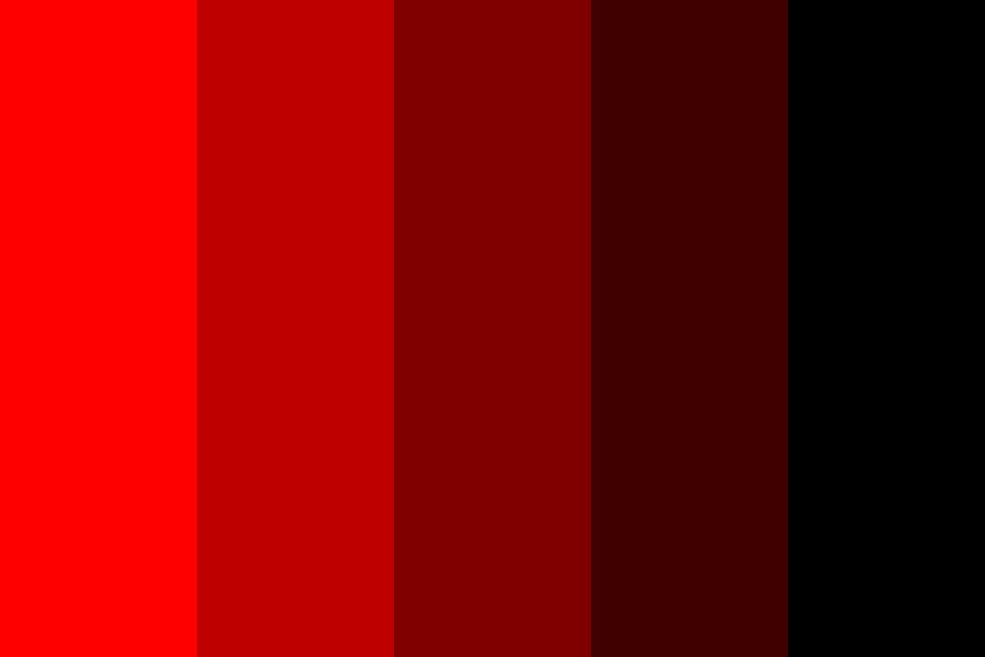 Dark Red To Light Red Color Palette
