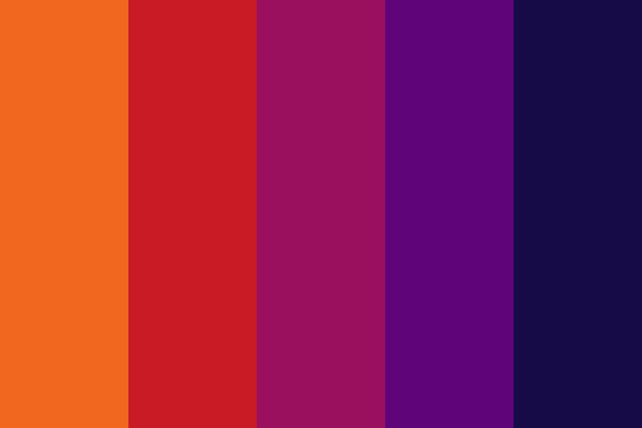 Dark Sunset Color Palette