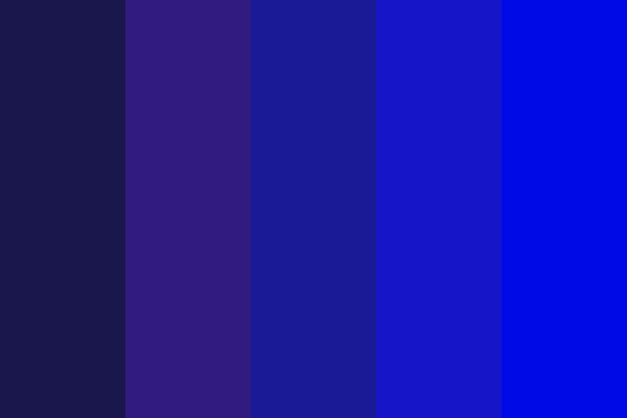 Dark To Light Blues Color Palette