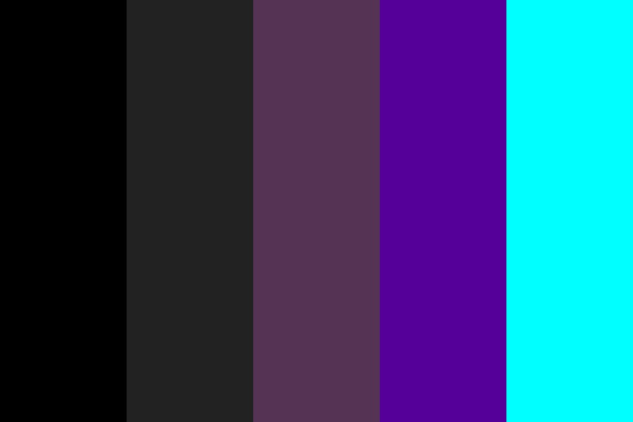 Dark With Cyan Color Palette