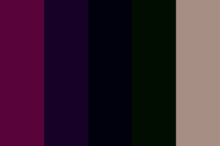 Dark eggplant Color Palette