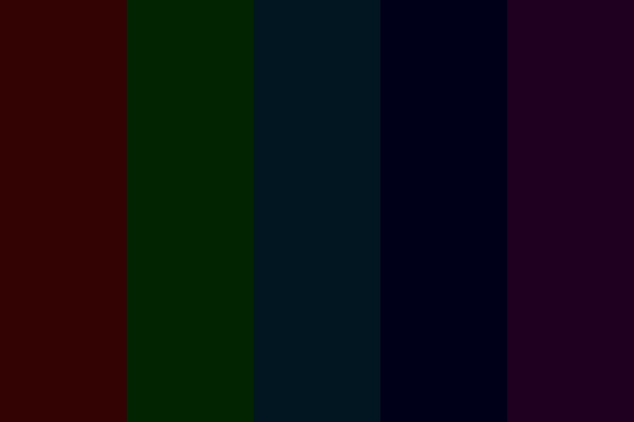 Darkened Rainbow Color Palette