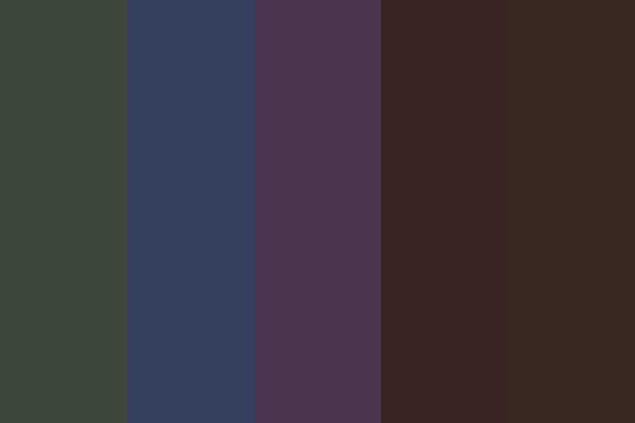 Darker Earthy Boys Color Palette