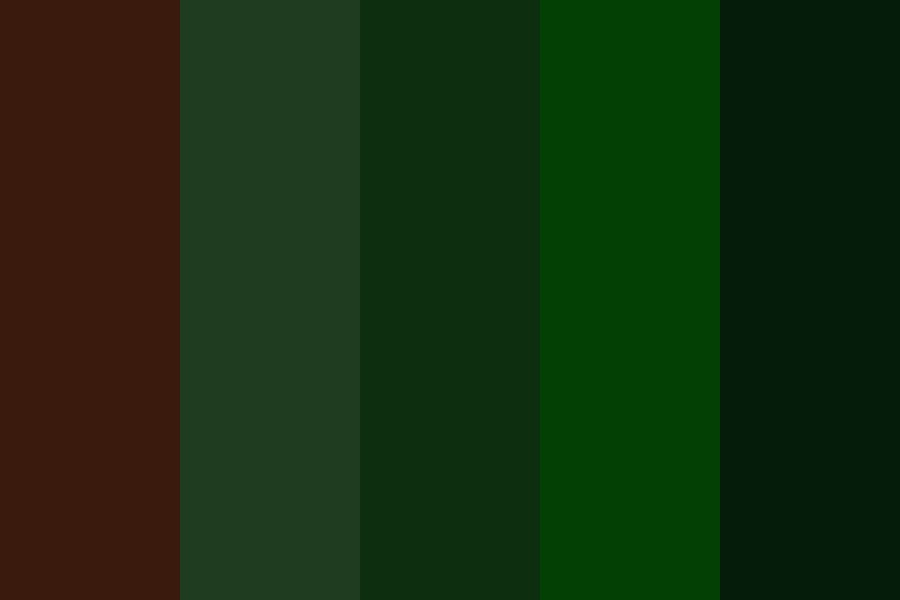 Darkest Of Forests Color Palette