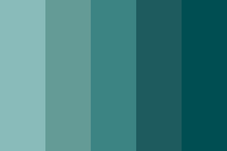 Darkness Of Cyan Color Palette
