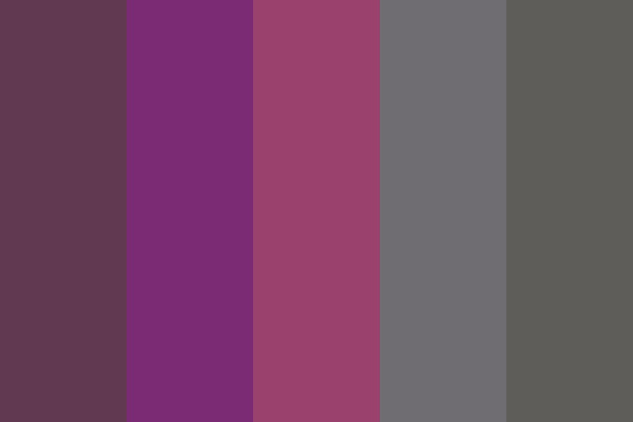 Deep Purple And Dark Grey Color Palette