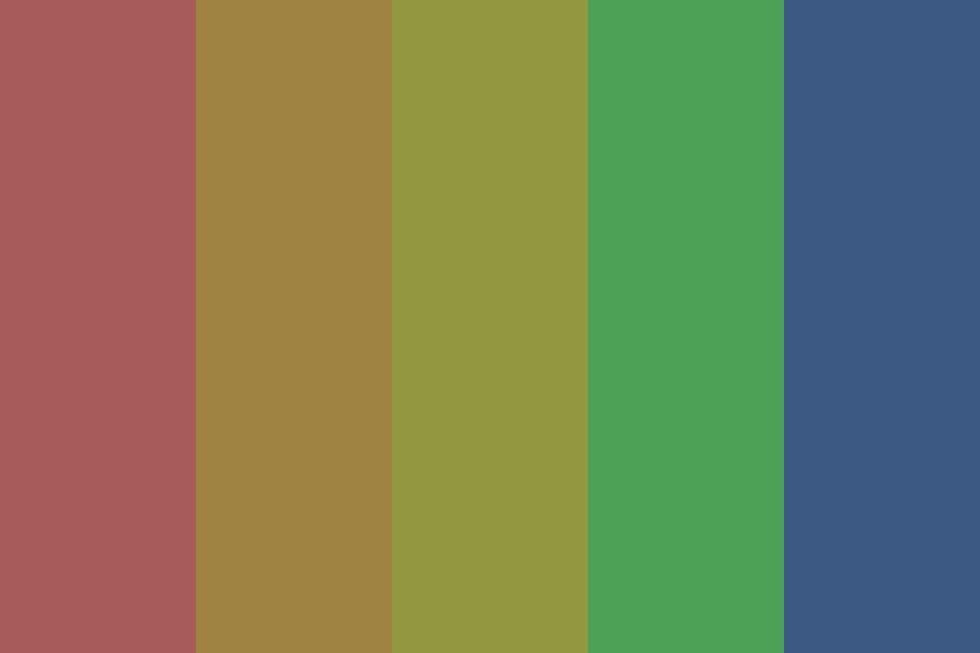 Depressed Rainbow Unicorn Color Palette