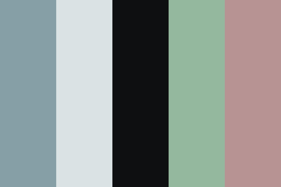 Desaturated Dark Blue Color Palette
