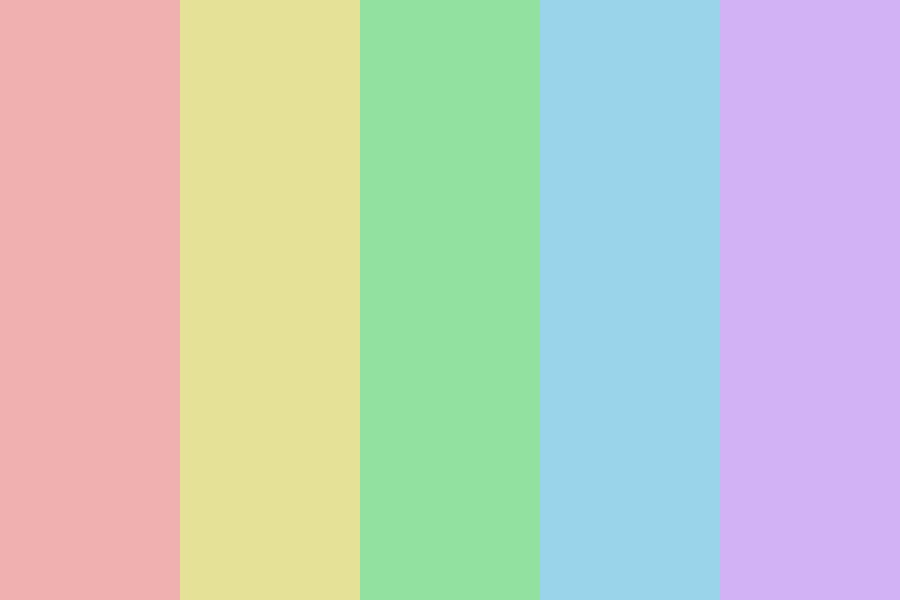 Desaturated Rainbow Color Palette