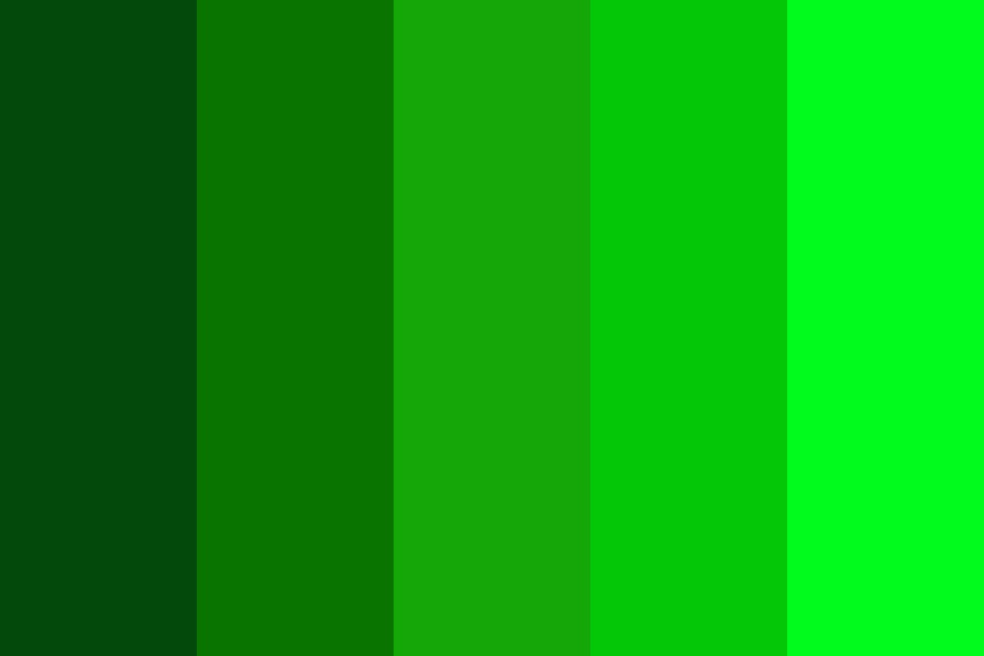Different Greens Color Palette