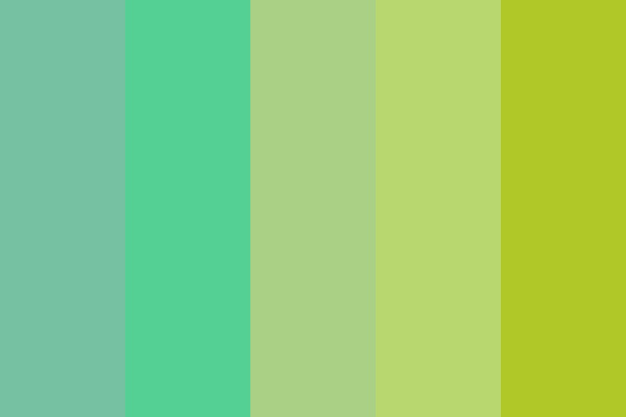 Different Shades Of Green Color Palette