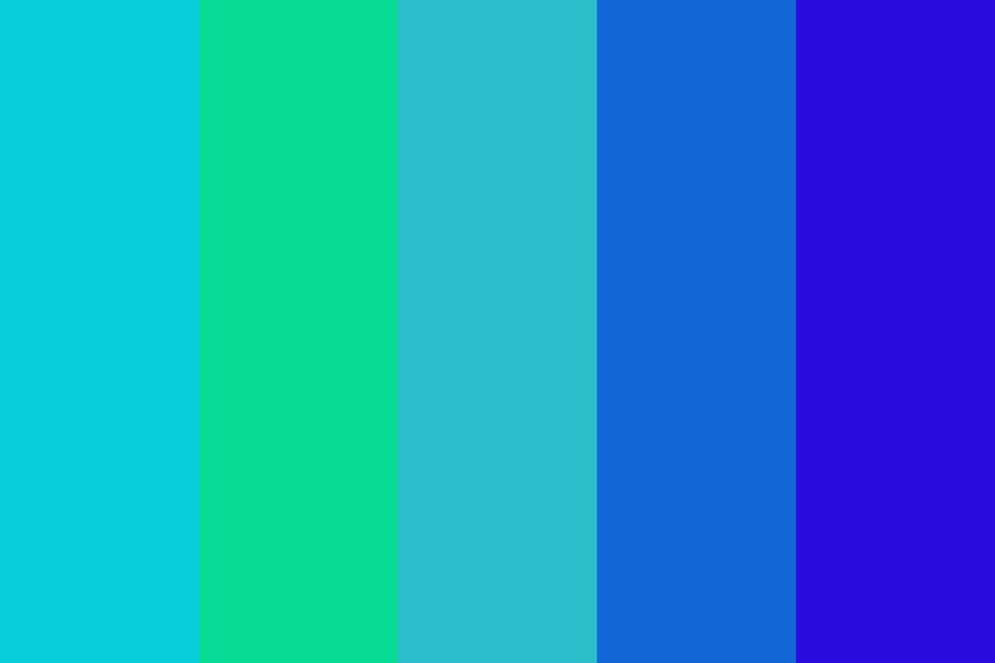 Diffrent Colors Of The Sea Or Ocean Color Palette