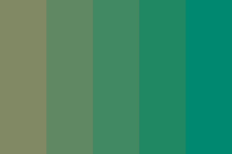 Dirty Green Color Palette