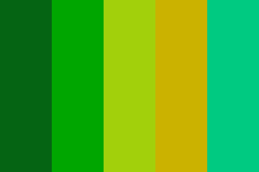 Disc Golf Greens Color Palette