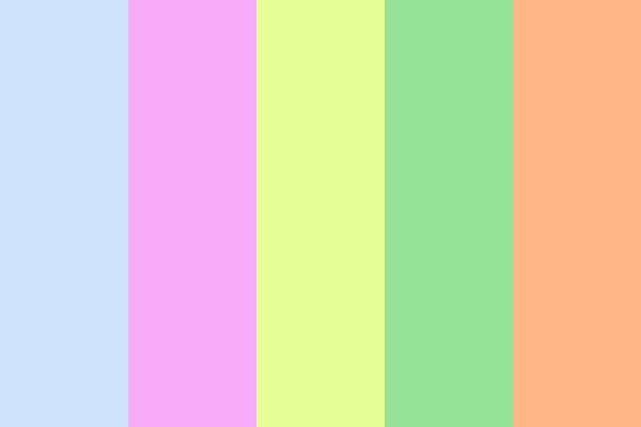 Disordered Rainbow Color Palette