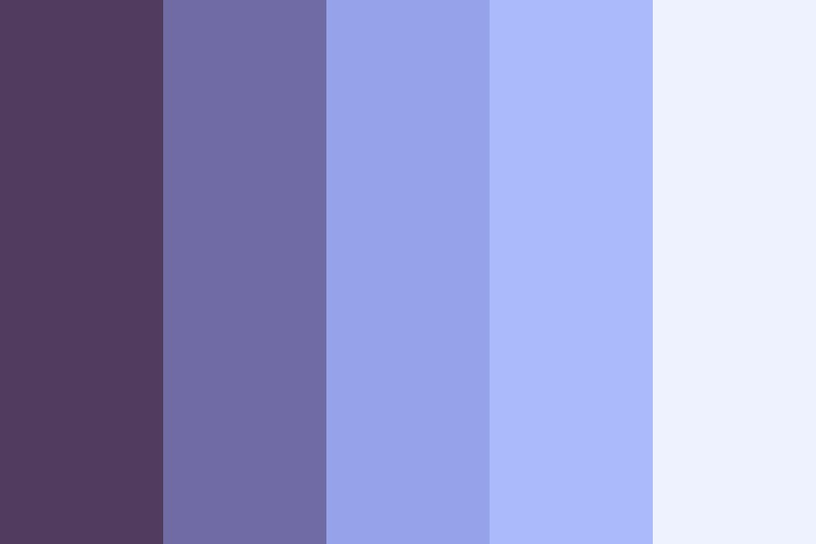 Down Blue Color Palette