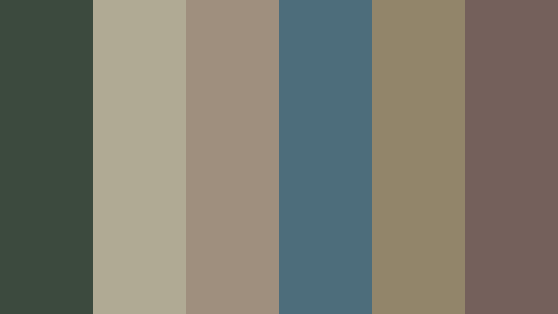 Down To Dull Color Palette