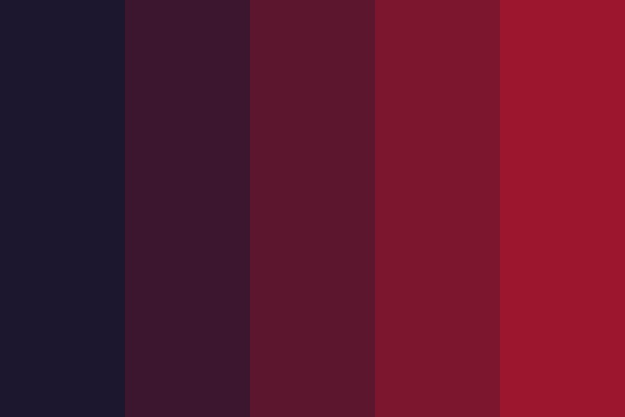 Dramatic Red Color Palette