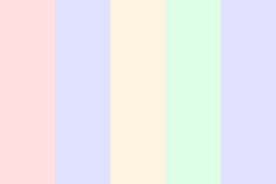 Dreaming Of A Pastel World Color Palette