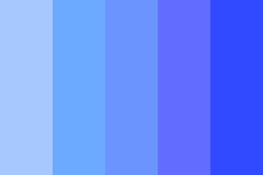 Drowning In A Bright Blue Ocean Color Palette