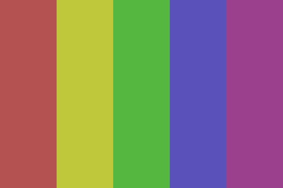 Dull Color Bars Color Palette